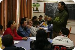 Au lycée Ambedkar. (Photo: Laszlo Antalfay)